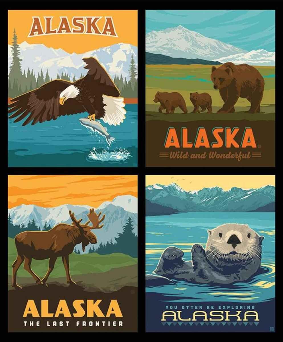 Pillow Panel 4 Alaska Animals P60