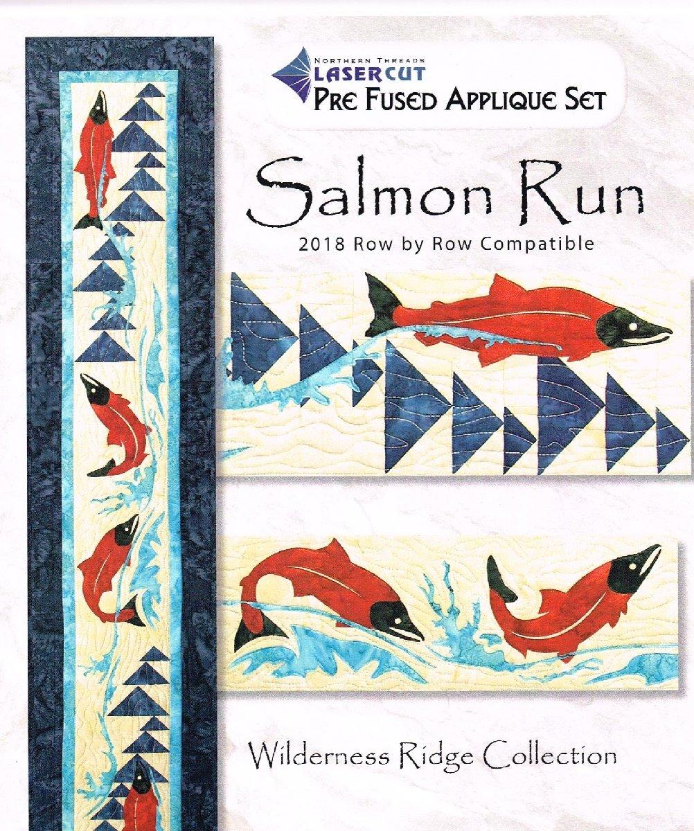 Salmon Run Laser Cut Applique Set