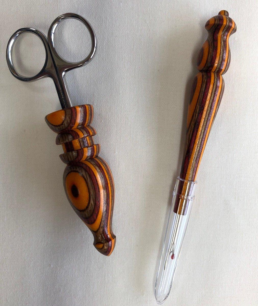 Scissor Seam Ripper Set Burgundy Gold W28
