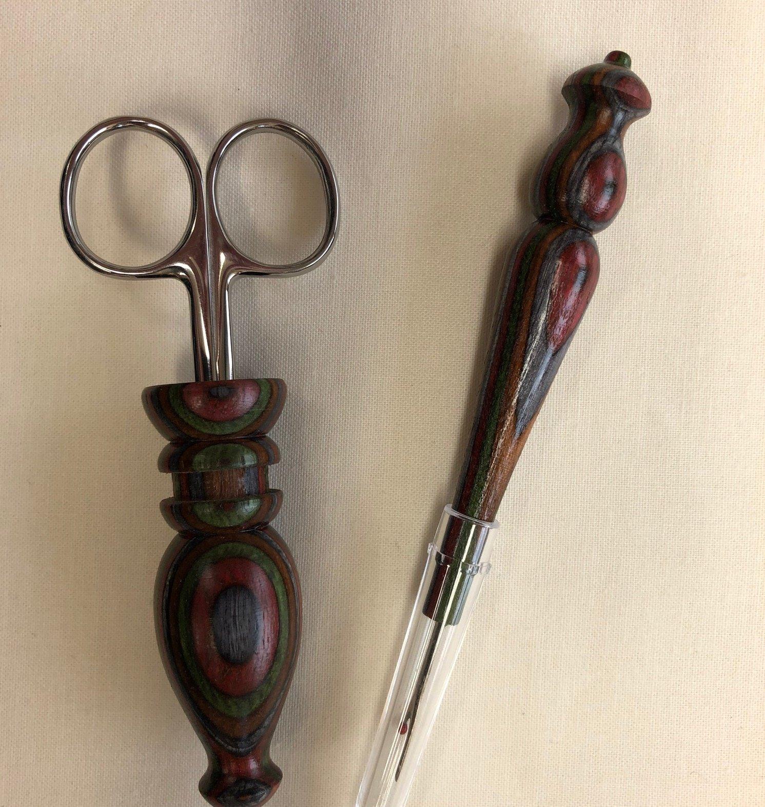 Scissor Seam Ripper Olive Burgundy W31