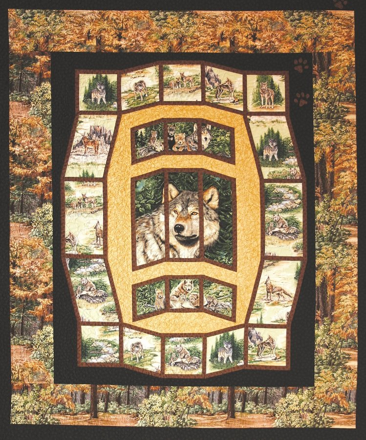 Wolf Song Twin Quilt Kit-Quilts with a Twist Lisa Moore