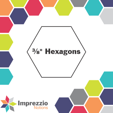Hexagons 3/8  - 170 Pack