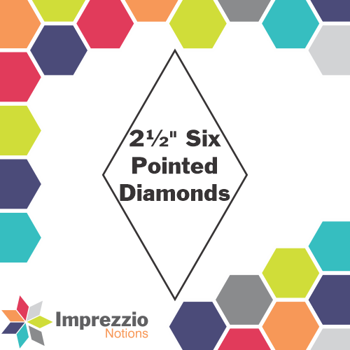 Six Pointed Star - 2.5 - 50 pack