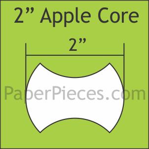 Apple Core  2 - 50pack - Paper Pieces