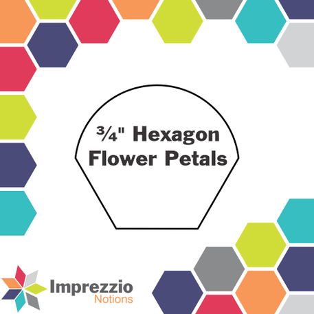 Hexagon Flower Petal 3/4 - Imprezzio