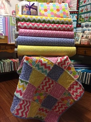 Baby Raggy Quilt - Kit
