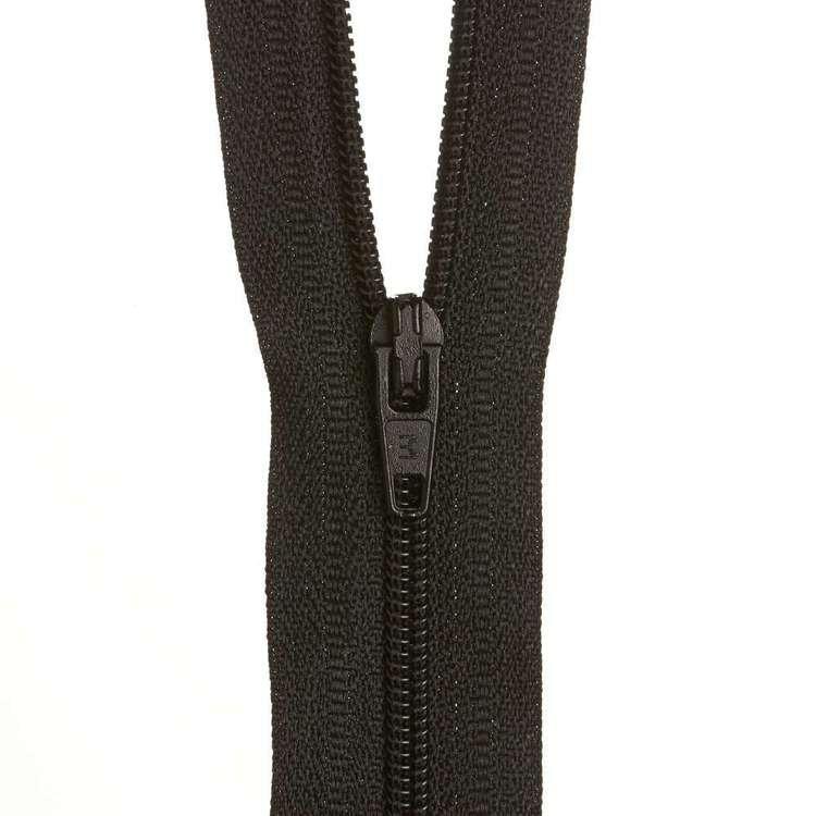 Dress Zip - Black - 18 inches
