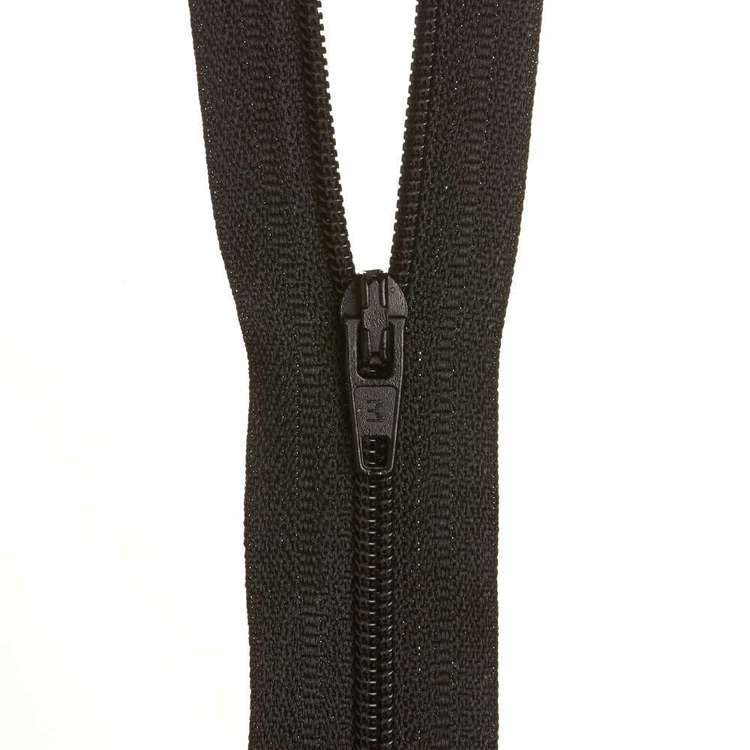 Dress Zip - Black - 14 inches