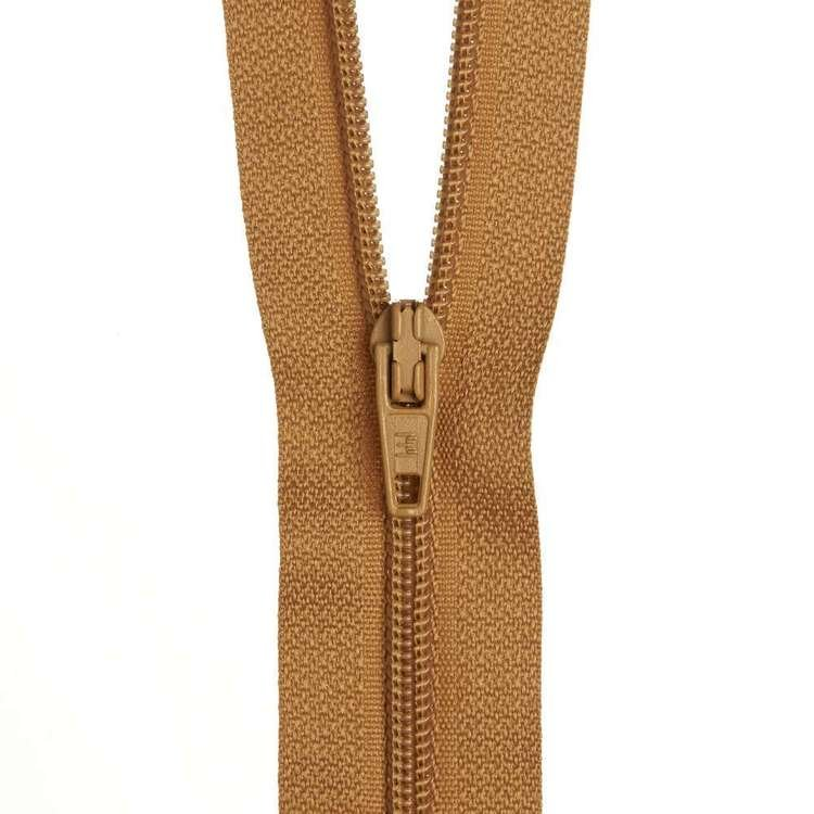 Dress Zip - Brown Gold - 14 inches