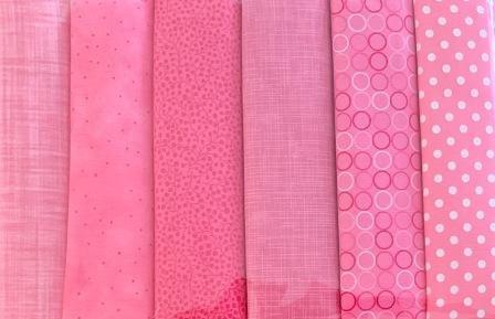 Fat Quarter Pack X 6 - Pink