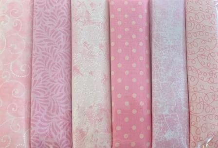 Fat Quarter Pack x 6 - Light Pink