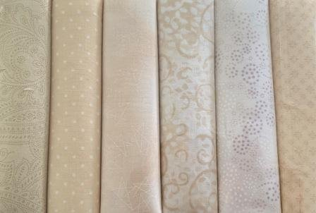 Fat Quarter Pack x 6 - Cream 3