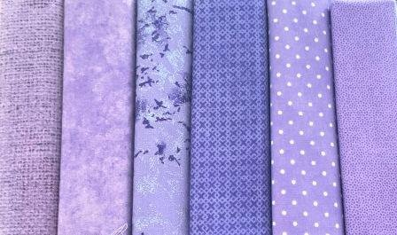 Fat Quarter Pack x 6 - Purple