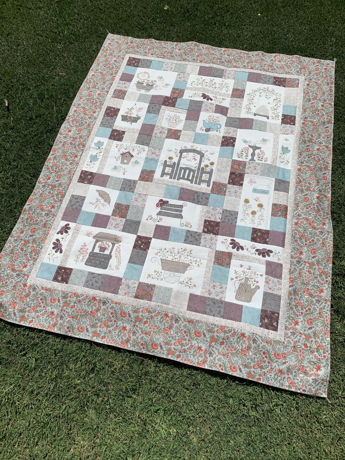 Forget Me Not Garden - Block of the Month