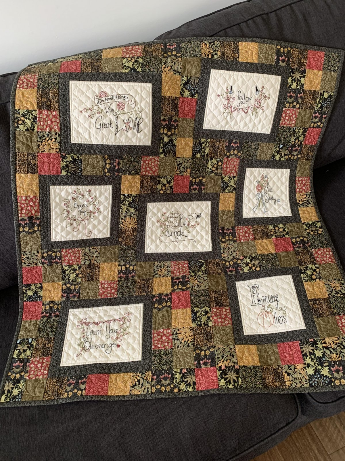 Stitched Wisdom - Block of the Month