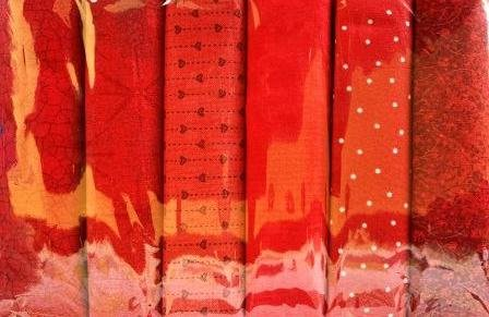 Fat Quarter Pack - Red - 6 pieces