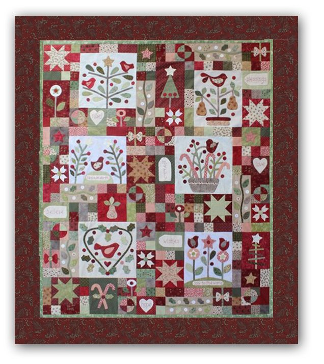 A Merry Christmas Garden - Block of the Month