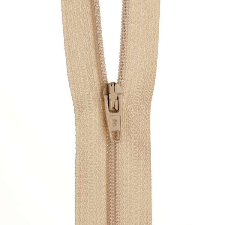 Dress Zip - Natural - 12 inches