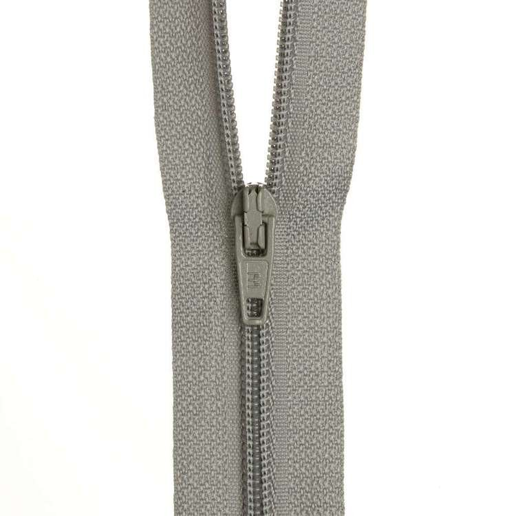 Dress Zip - Pearl Grey - 12 inches