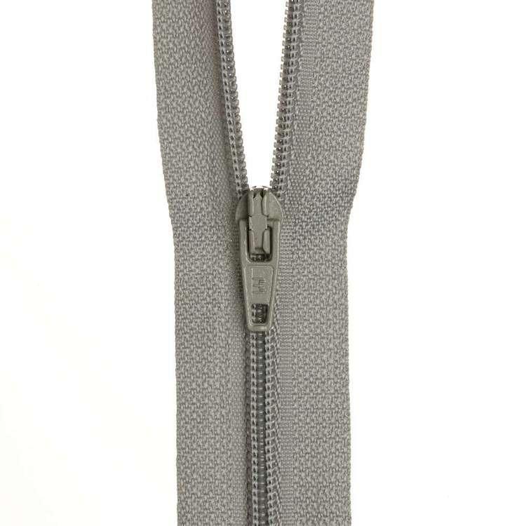Dress Zip - Pearl Grey - 14 inch