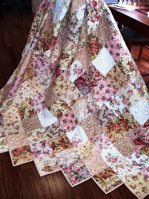 Shabby Rose Quilt - Kit