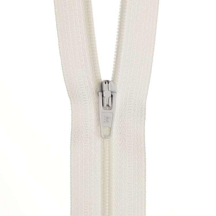Dress Zip - White - 12 inch