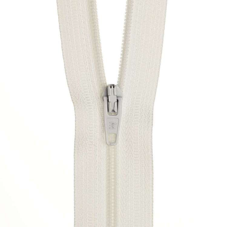 Dress Zip - White - 14 inch
