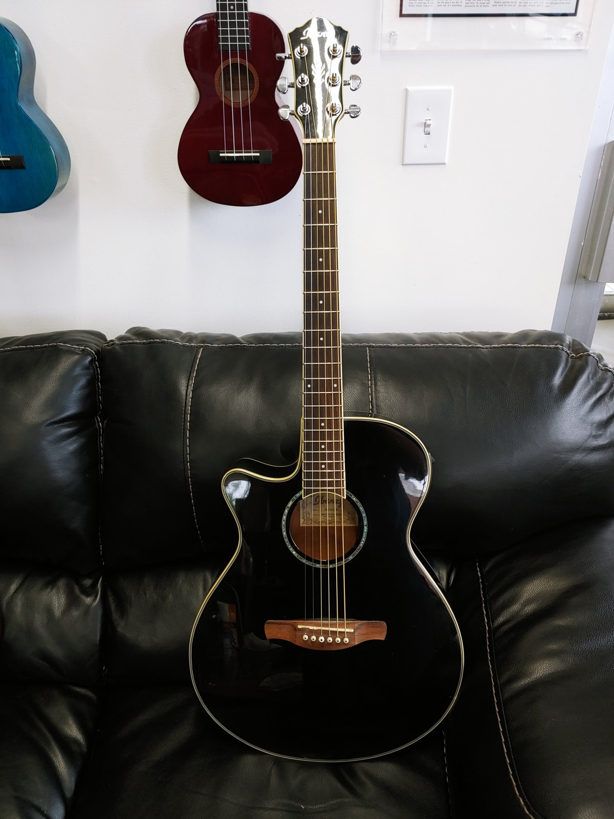 Ibanez Left Handed Acoustic Electric Guitar (used)