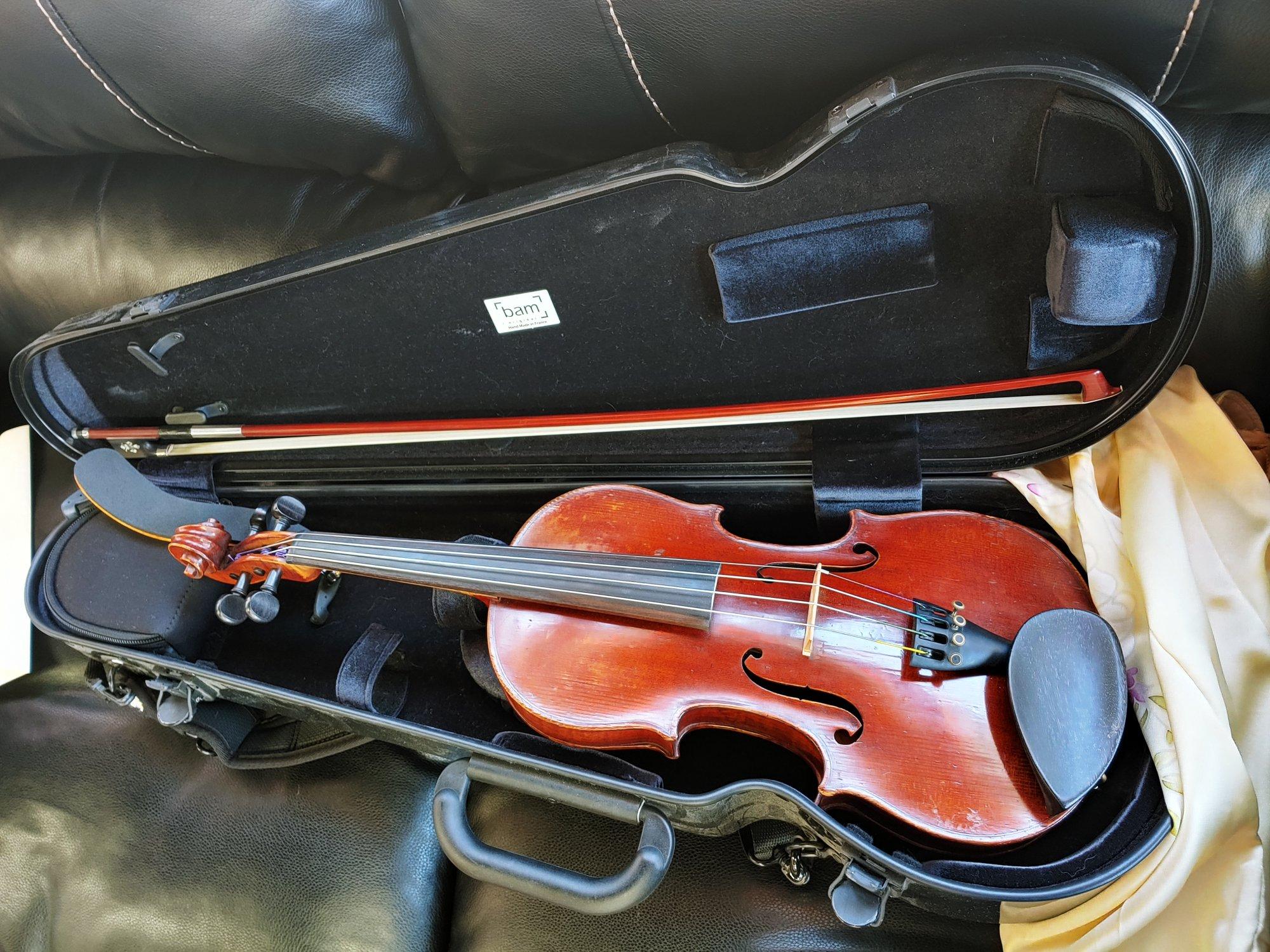 1900s German Violin Outfit