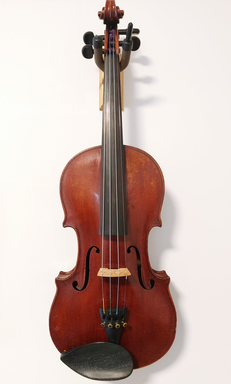 1900s German Violin Gefertigt von Aug. Wunderlich, Markneukirchen