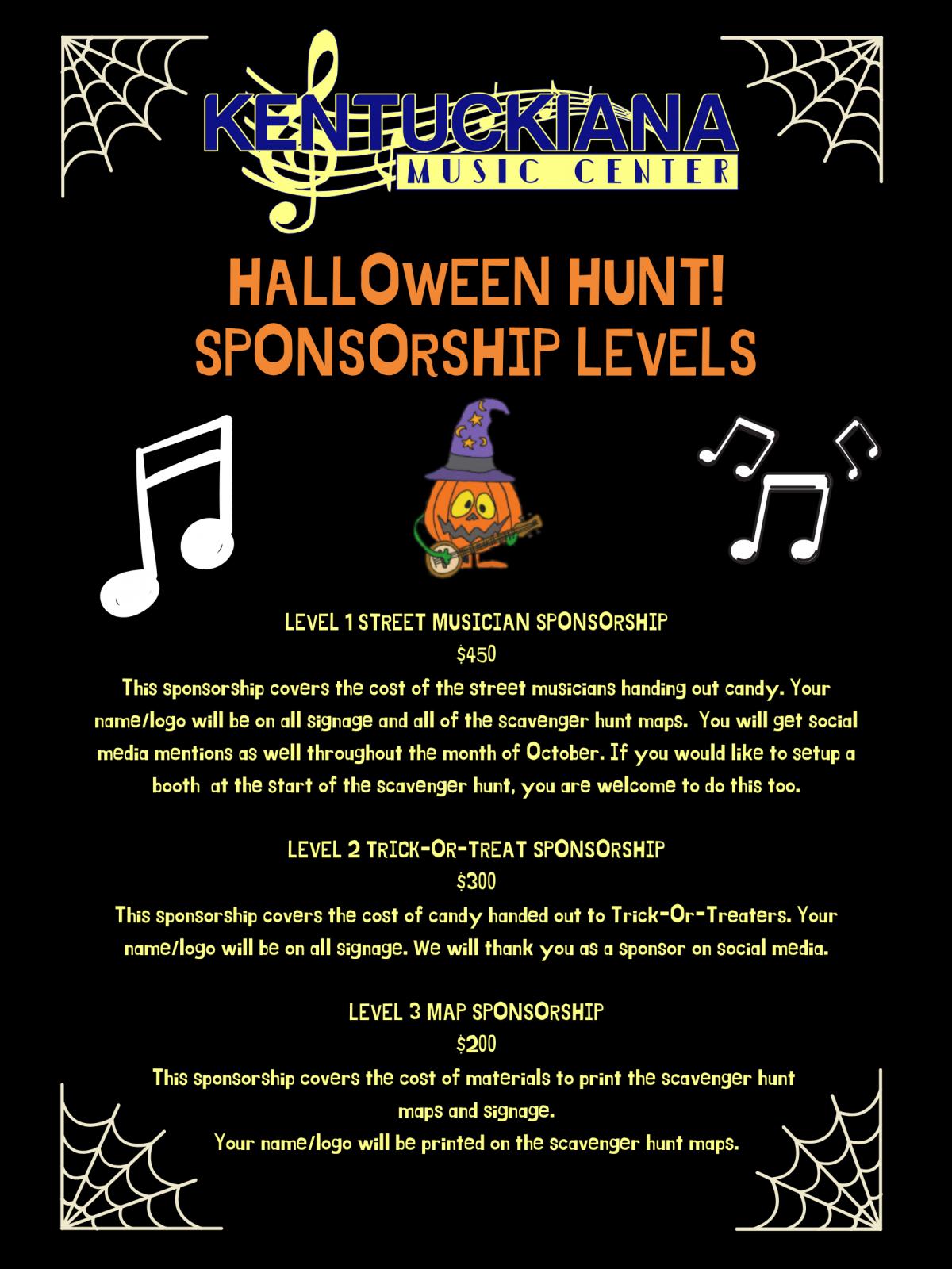Halloween Hunt Sponsorship