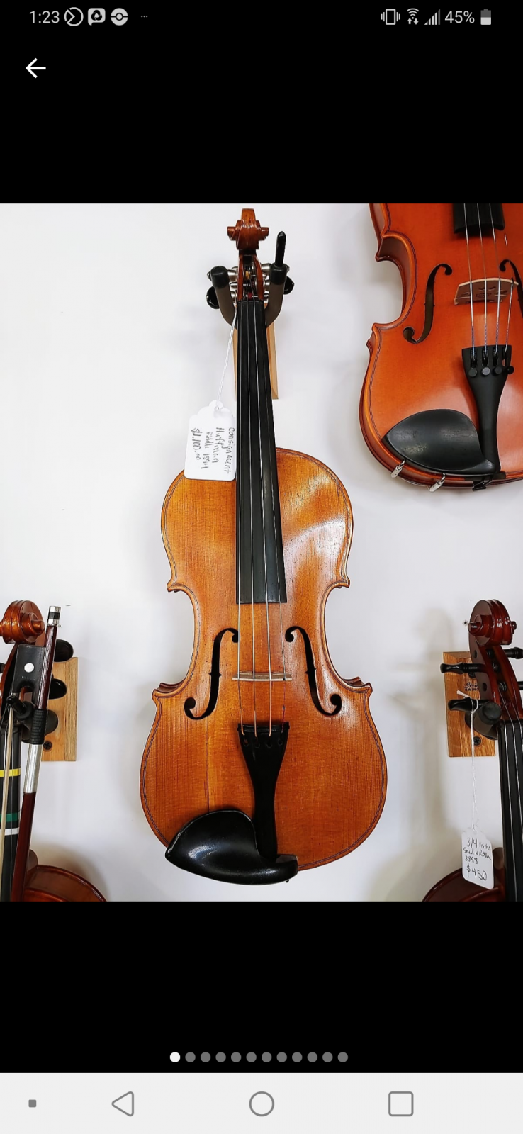 Antique 1894 French Catalogue Stradivarius Copy Violin
