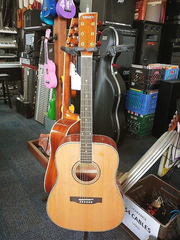 Tanara Full Size Dreadnought Acoustic Guitar Natural 3-Band Eq