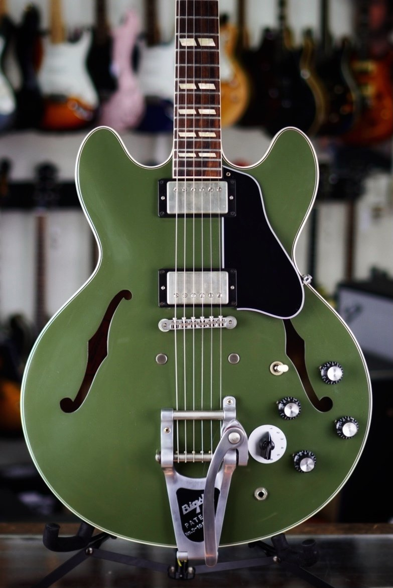 2017 Gibson 64 ES-345 Mod Series Prototype OD Green Made in Memphis