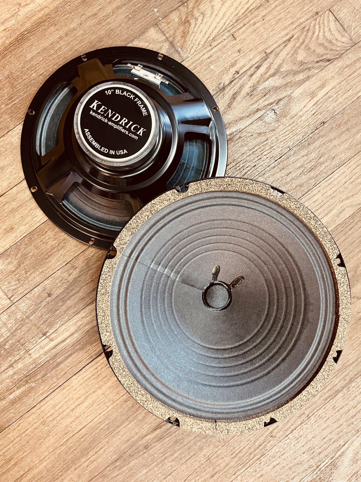Kendrick 2x10 Black Frame 8 Ohm Speakers (NOS)