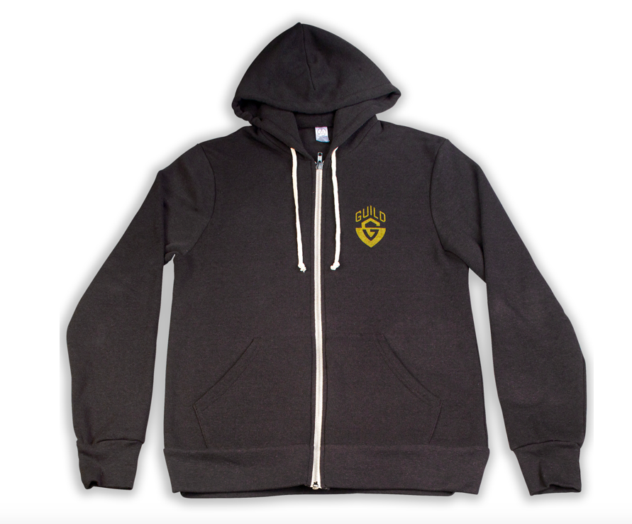 Guild G Shield Logo Black Zip-Up Hoodie (Large)
