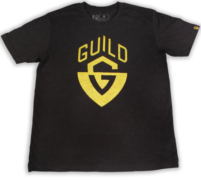 Guild G Shield Distressed Logo Black T-Shirt (Large)