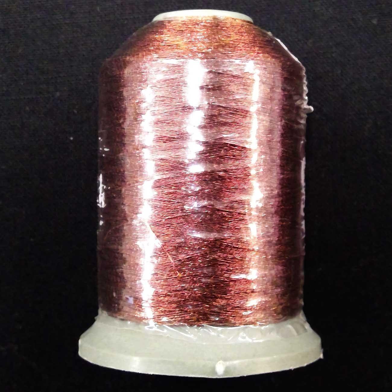 Metallic Embroidery Thread Brown 700m