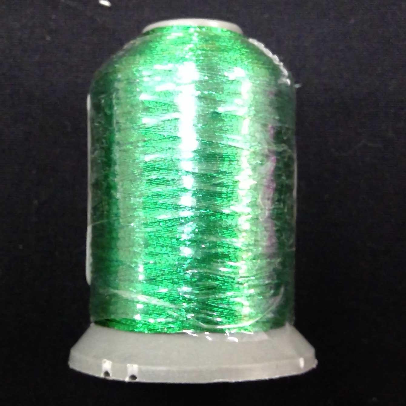 Metallic Embroidery Thread Kelly Green 700m