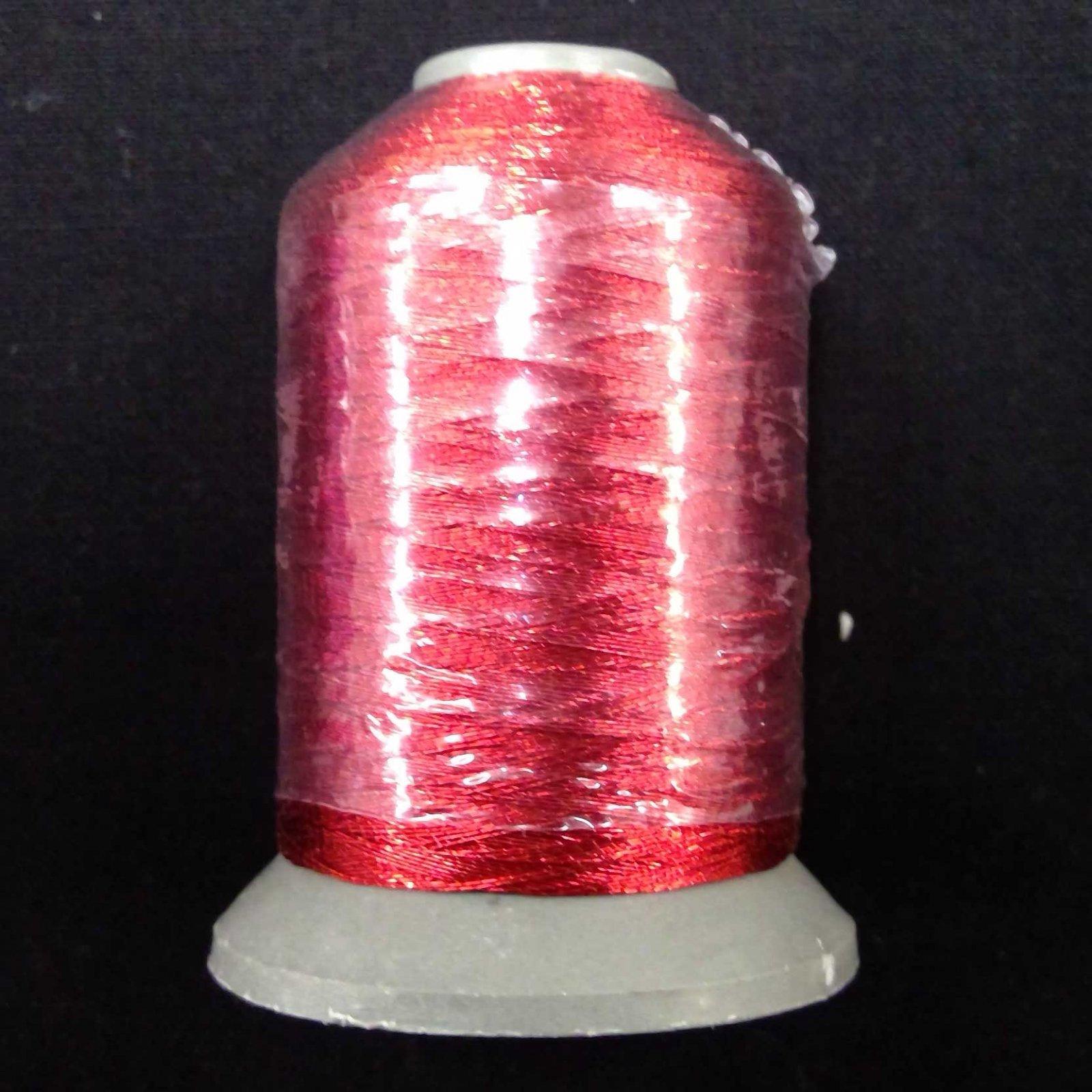 Metallic Embroidery Thread Deep Red 700m