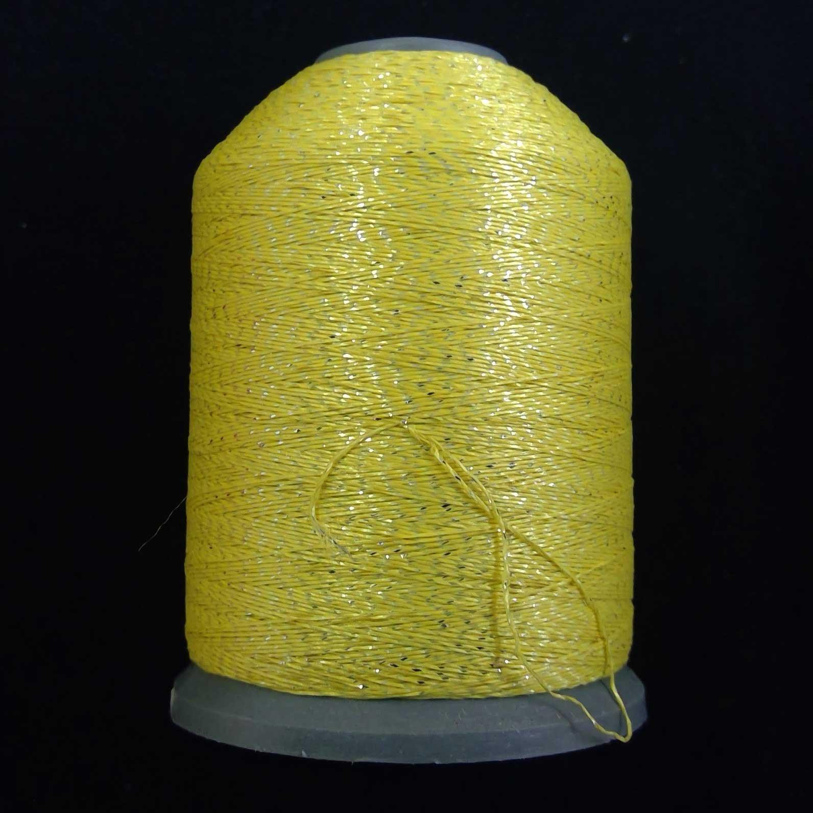 Semi-Metallic Embroidery Thread Yellow 1000m