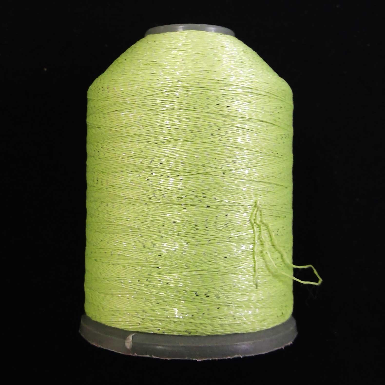 Semi-Metallic Embroidery Thread Lime 1000m