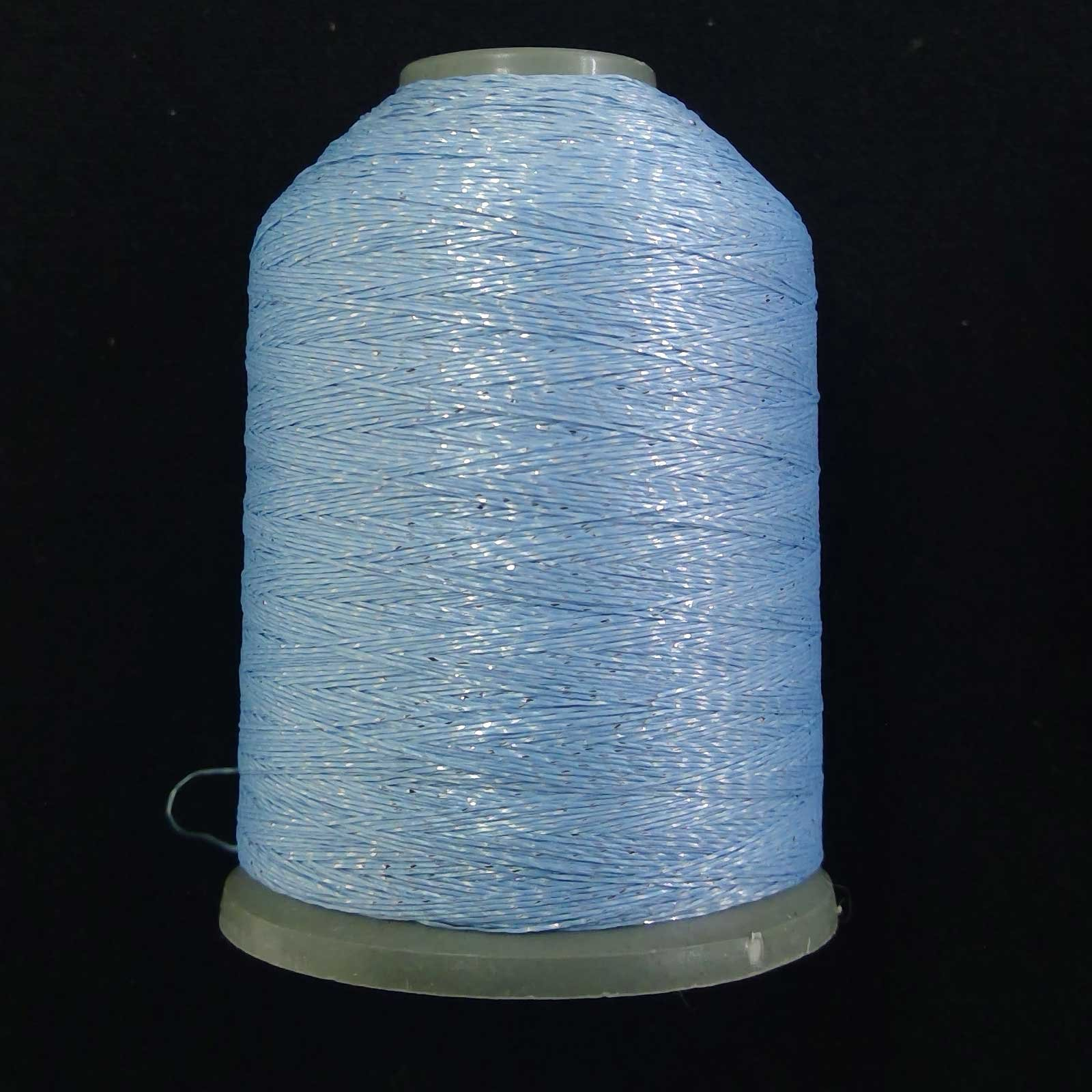 Semi-Metallic Embroidery Thread Sky Blue 1000m