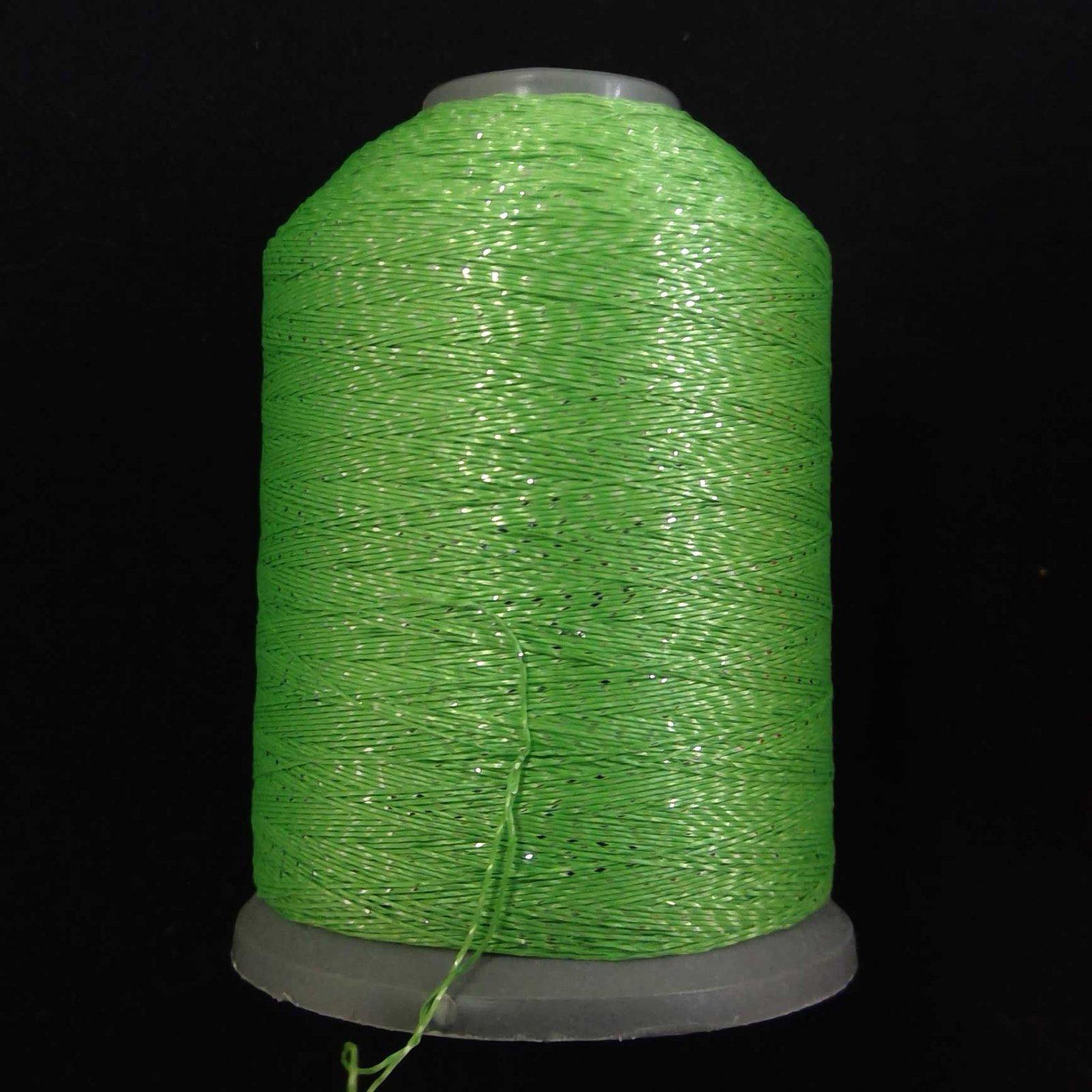 Semi-Metallic Embroidery Thread Grass Green 1000m