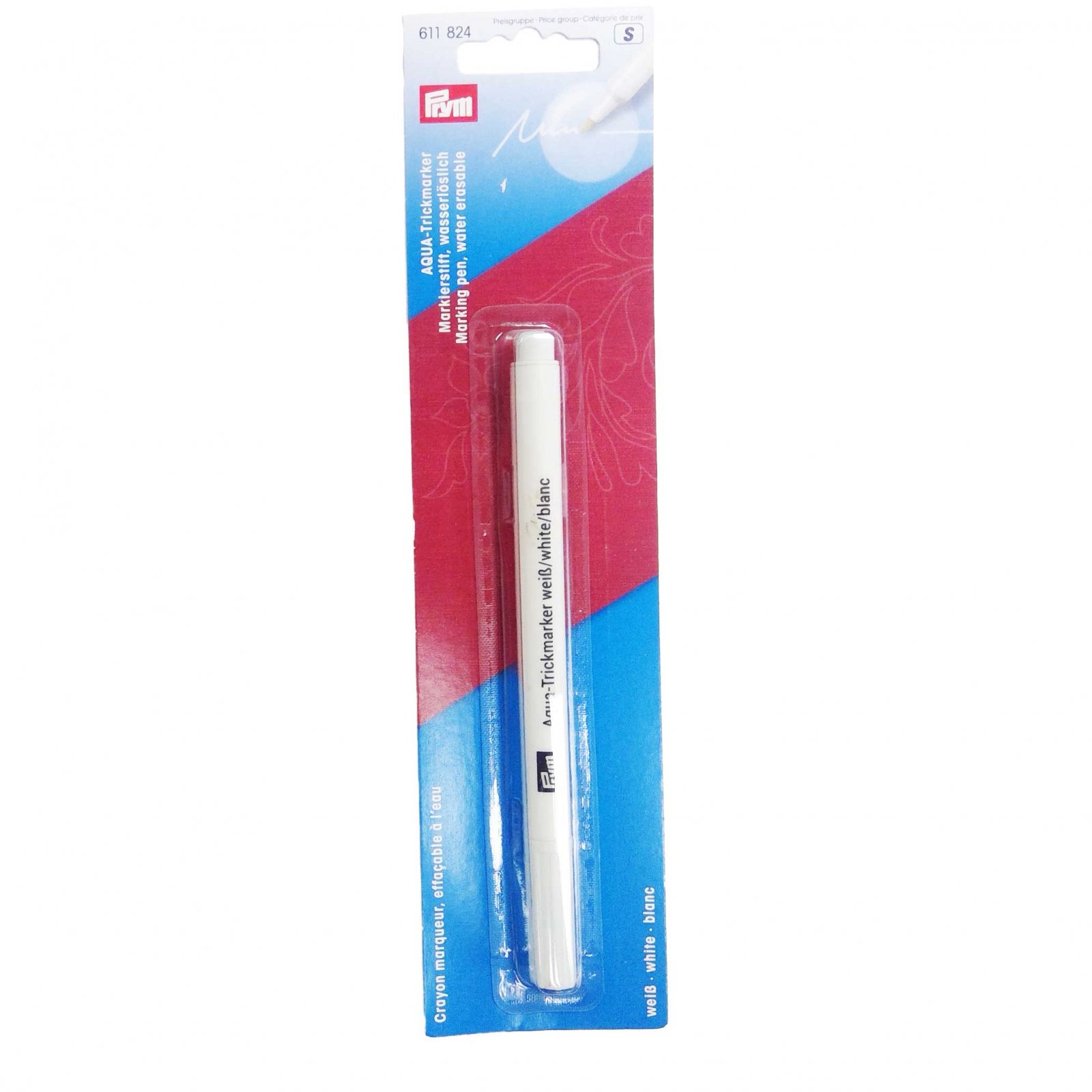 Prym Fabric Marker, Water Erasable White