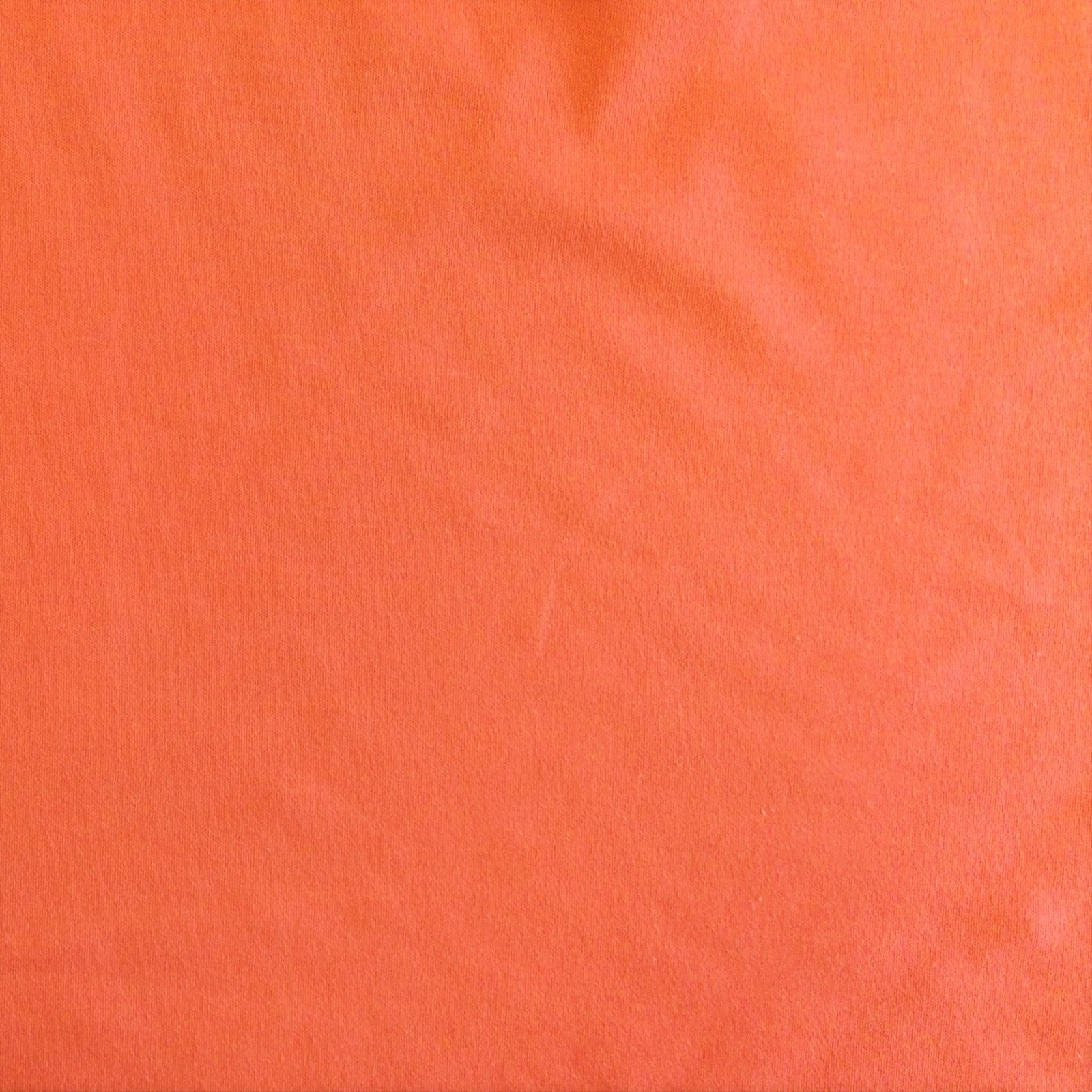Sweatshirt Fleece Cotton Blend Bare Knits Tangerine
