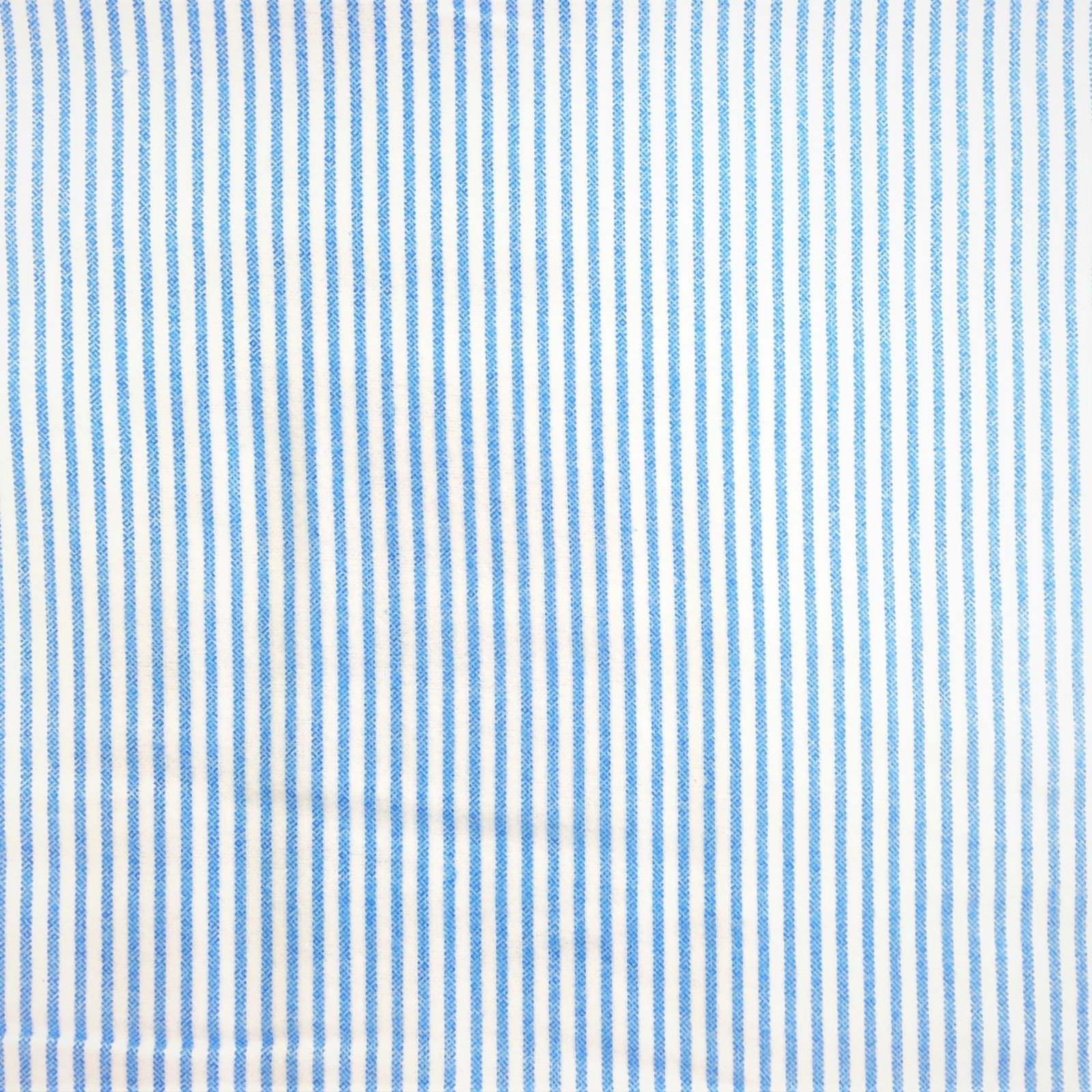 Flannel Print 100% Cotton Blue and White Stripes