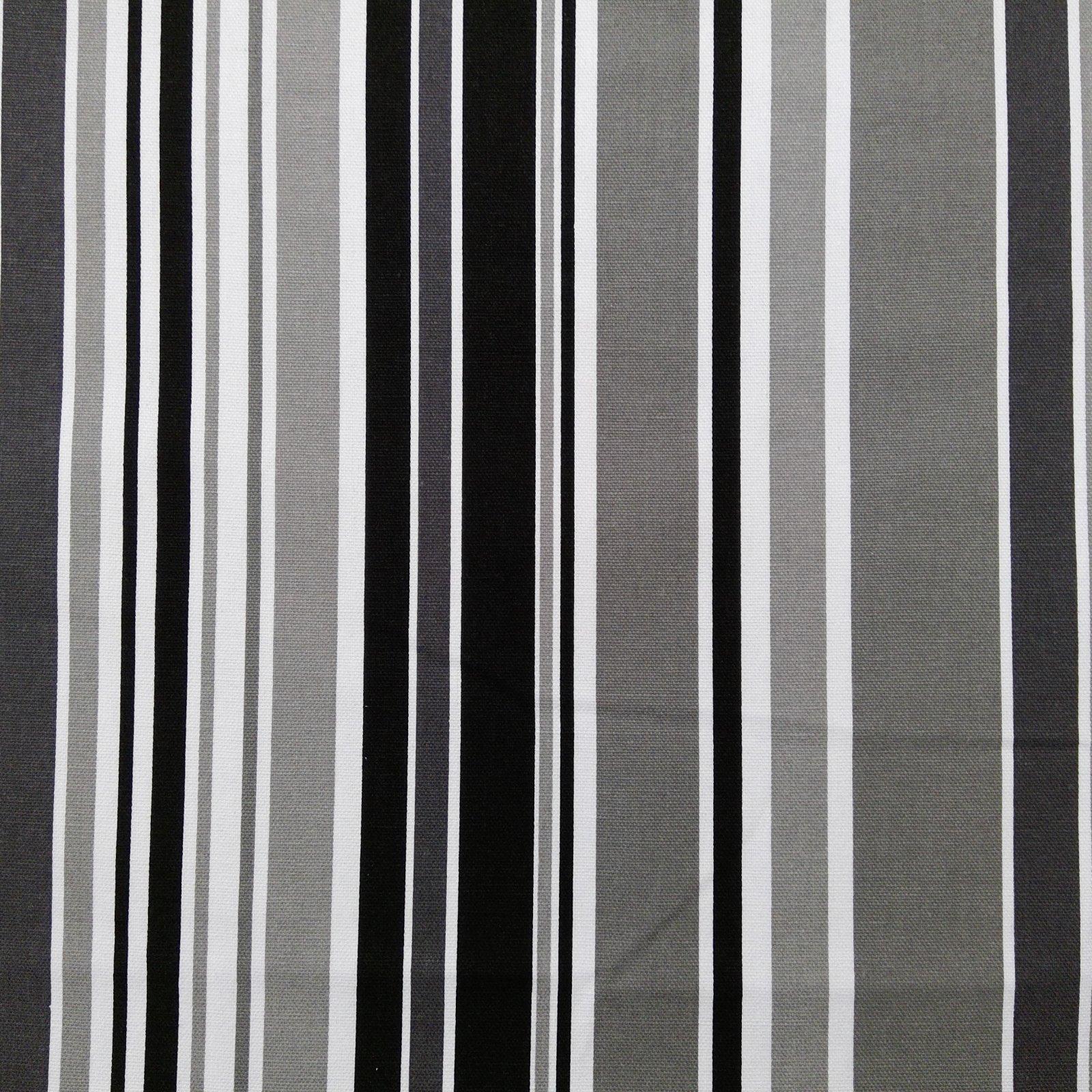 Canvas Print 100% Cotton Black /White/Grey Stripe