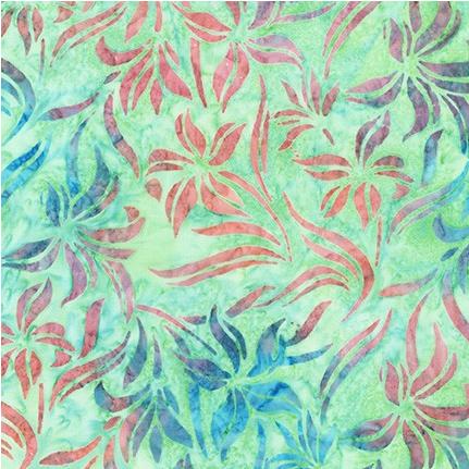 Batik 100% Cotton Artisan Batik  Hummingbird Lane Mint