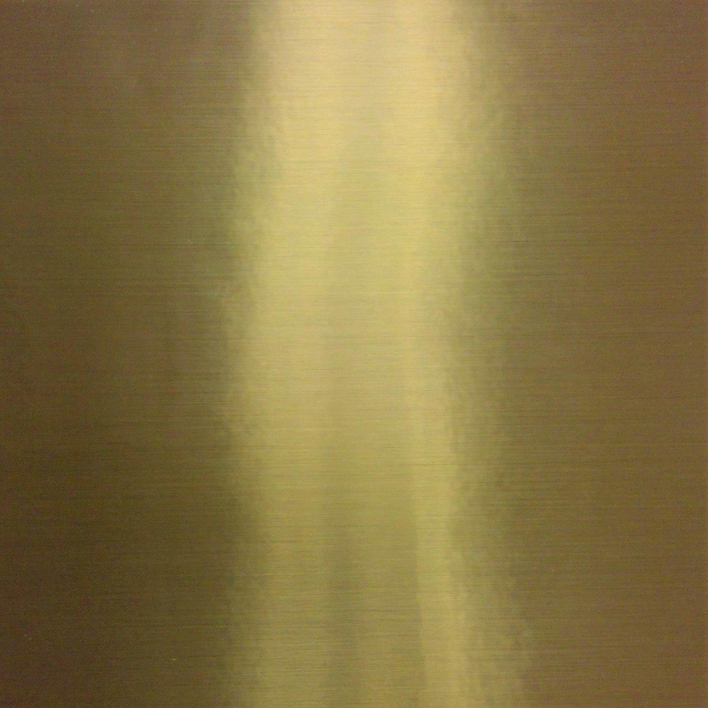 Pressure Sensitive Sign Vinyl Brushed Gold 12x12 Sheet